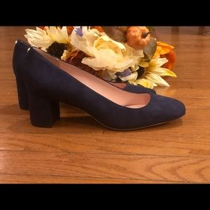 Kate Spade Kylah Square-Toe Block Heel Pumps Sz 6
